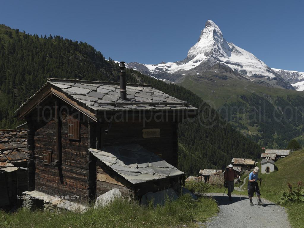 Zermatt CH 363 Findeln e il Cervino 0000