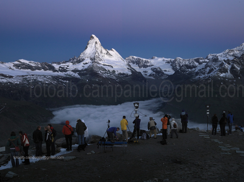 Zermatt CH 87 vista del Cervino Matterhorn da Rothorn 0000