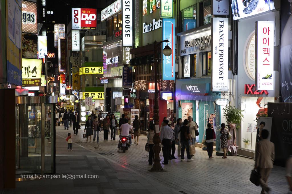 222 Corea Sud 1189CR Seoul vista zona Myeong dong - Copia