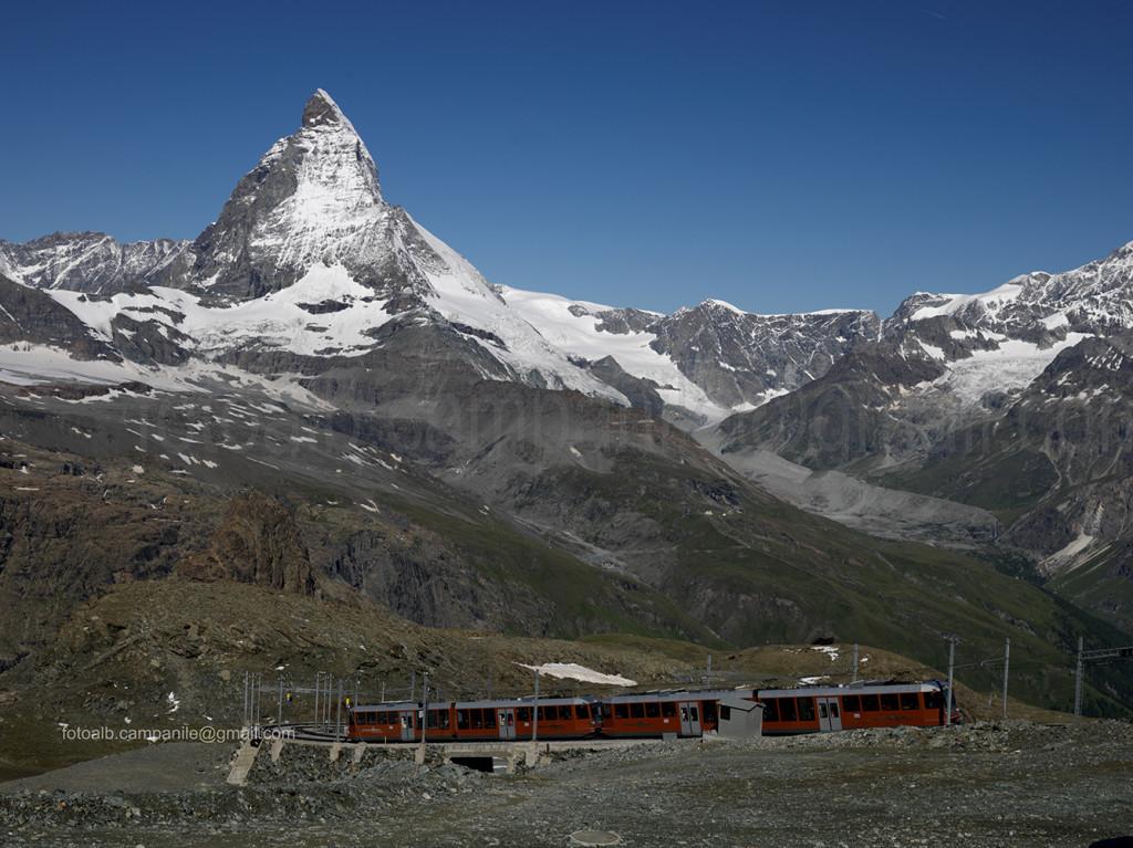Zermatt CH 615 Vista del treno del Gornergrat 0000