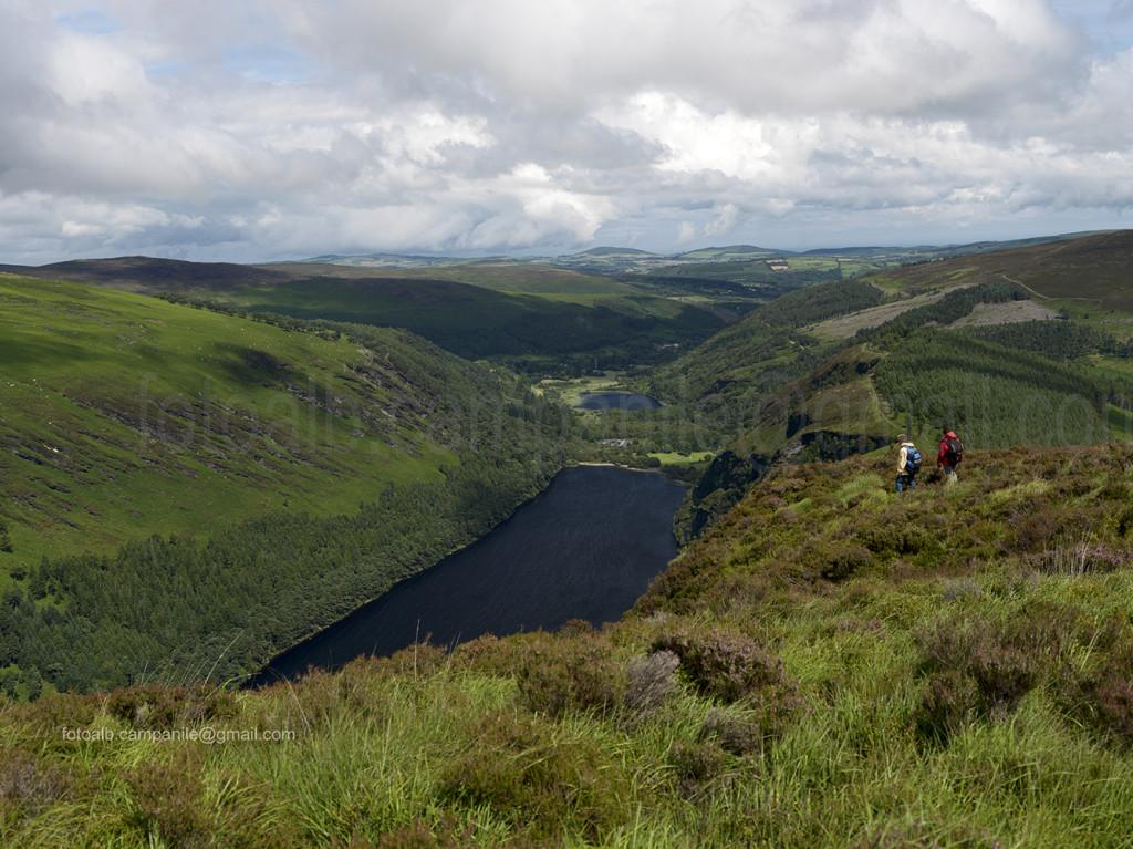 681 Wicklow Mountains NP, Vista verso Upper Lake e Lower Lake