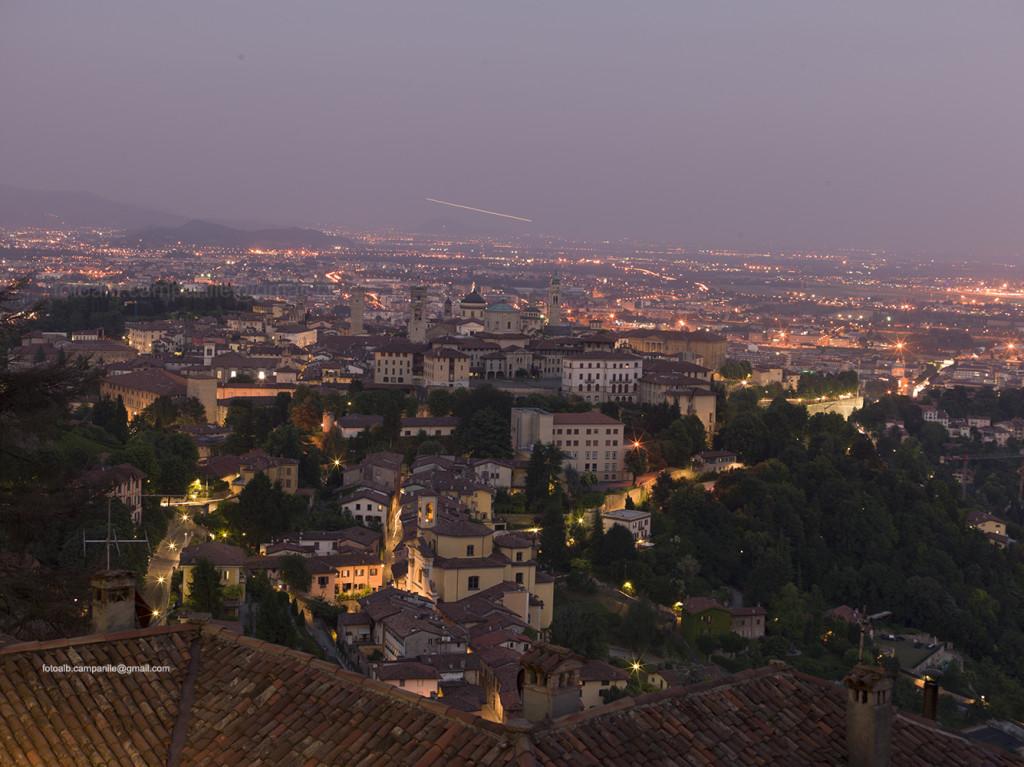 View of the city, Bergamo, Lombardy, Italy, Italia; Europe