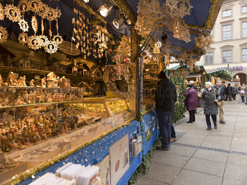 Christmas market, crib market, Munich, Bavaria, Germany, Europe