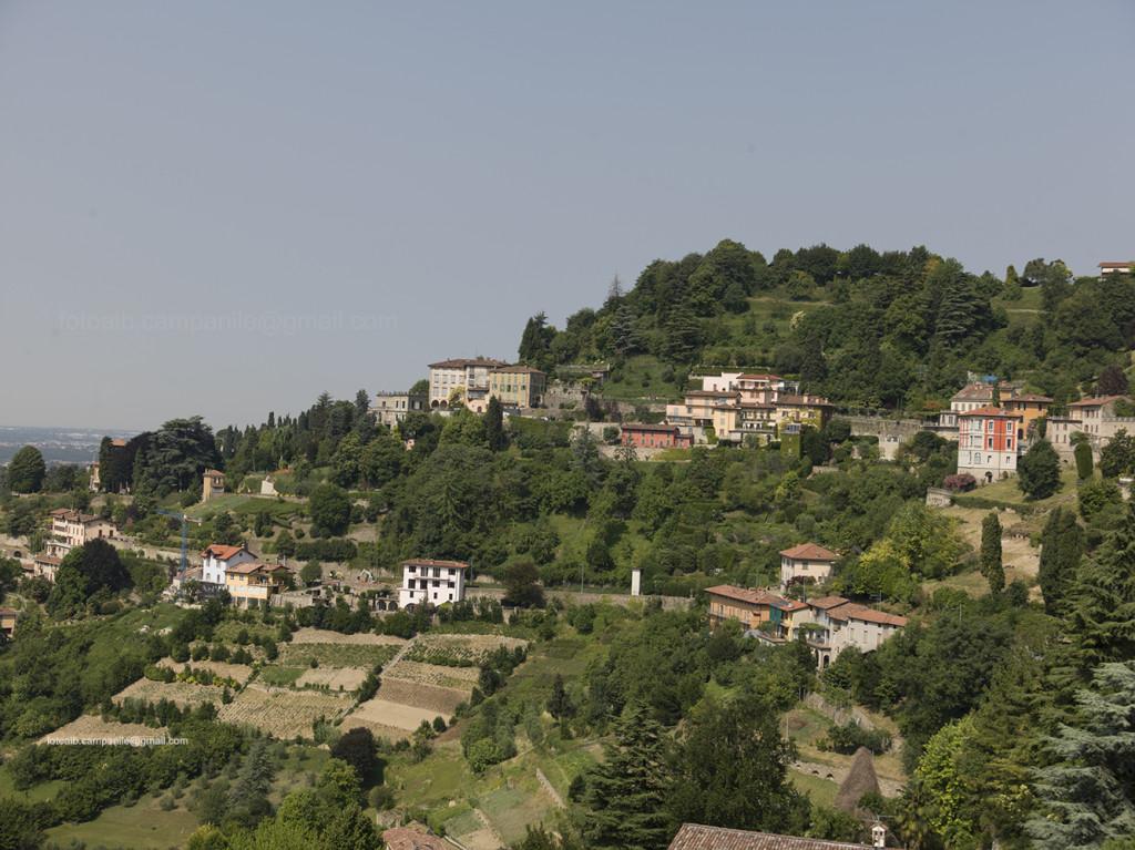 View from Donizetti's house, Bergamo, Lombardy, Italy, Italia; Europe