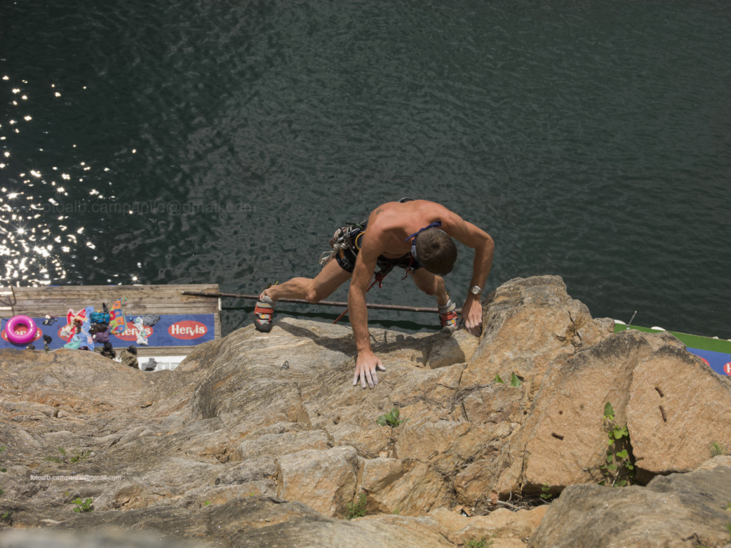 A free climber, Dobriach, Carinthia, Austria, Europe