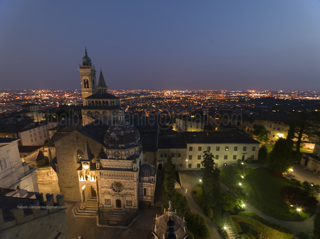 Colleoni Chapel and upper city, Bergamo, Lombardy, Italy, Italia; Europe