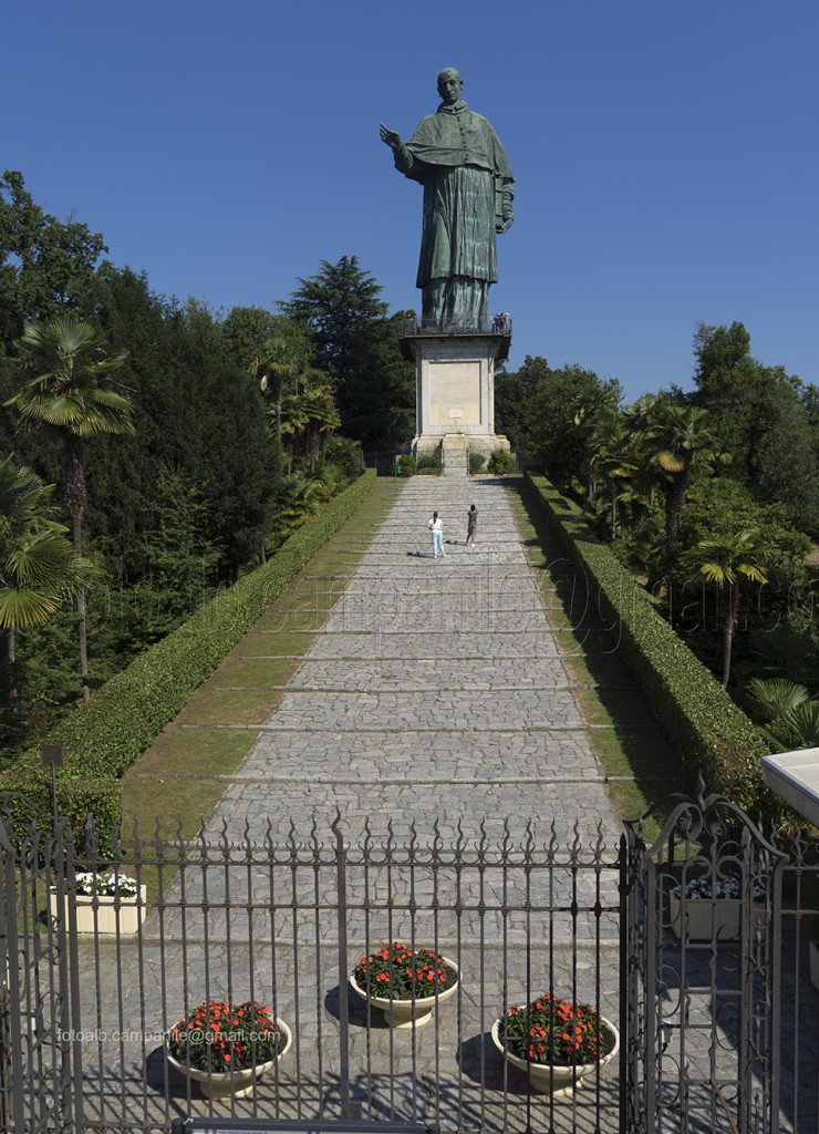 St. Charles Monument, Maggiore Lake, Arona, Italy; Europe