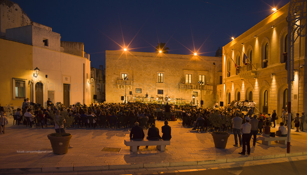 Concert in Municipio square, Cutrofiano, Salento, Puglia, Italy, Europe