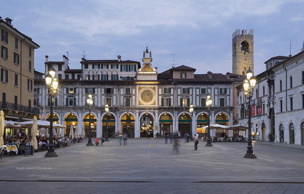 Loggia Square, Brescia, Lombardy, Italy, Europe