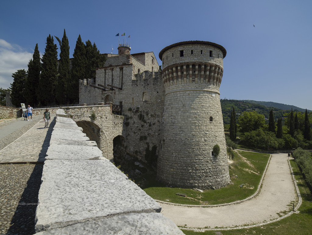 Castle, Brescia, Lombardy, Italy, Europe