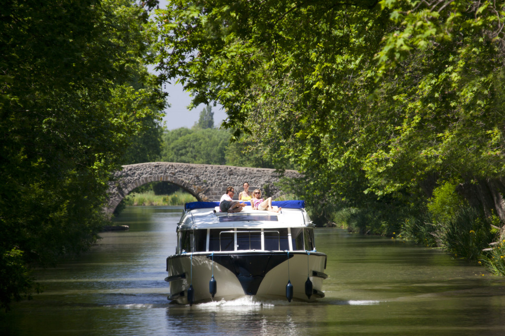 Le Boat.Canal du Midi.France.May 2012