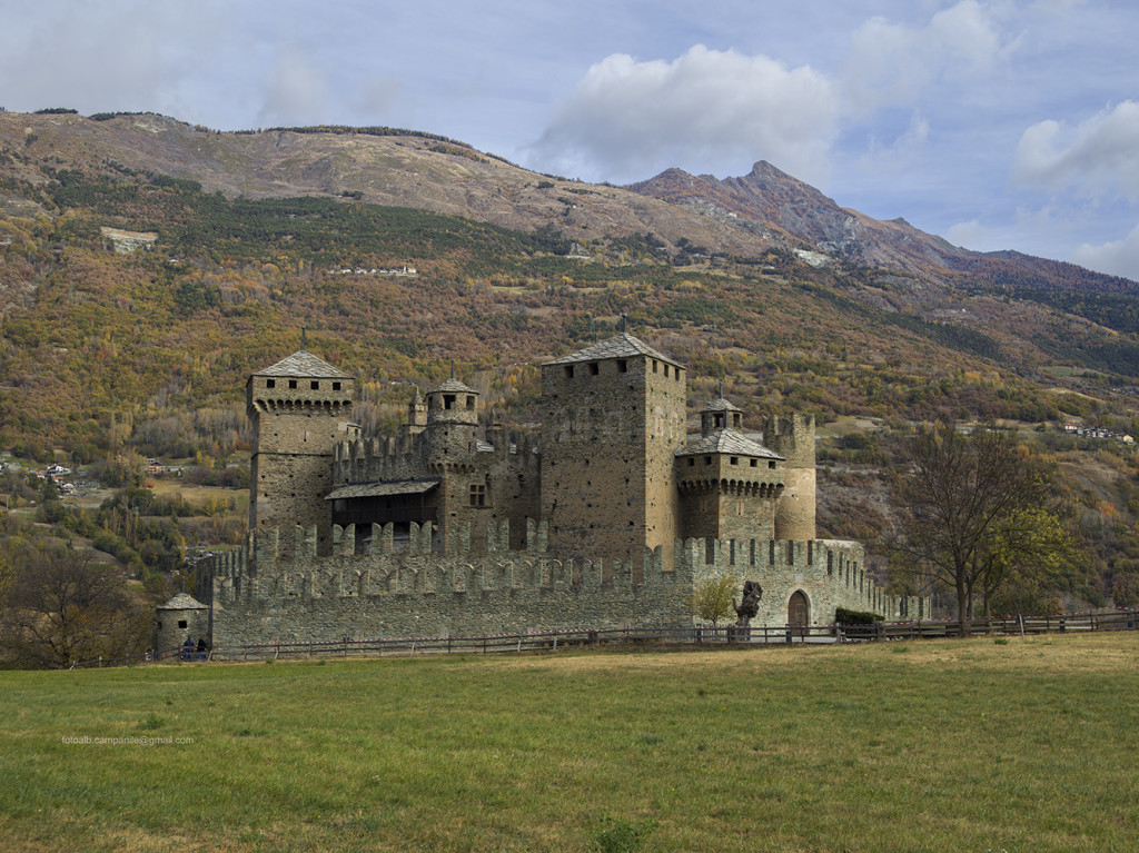 Fenis Castle, Fenis, Aosta Valley, Italy, Europe
