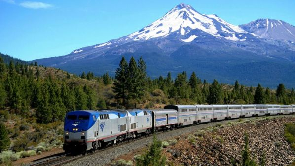 Amtrak-train-with-mountain